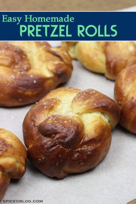 Easy Homemade Pretzel Rolls | Spiced