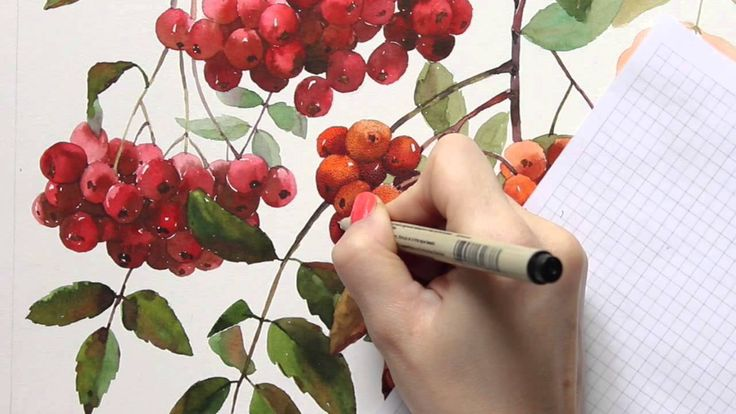 Пуантилизм   Рябина (Pointillism   Rowanberry)