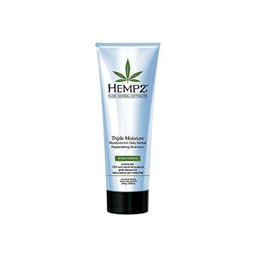 Hempz Triple Moisture-Rich Daily Herbal Replenishing Shampoo, Pearl Blue, Enchanted Grapefruit, 9 Fluid Ounce