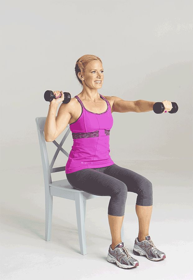 4 Toning Moves You Can Do With A Chair  http://www.prevention.com/fitness/fit-10-total-body-chair-exercises?cid=soc_Prevention%2520Magazine%2520-%2520preventionmagazine_FBPAGE_Prevention__