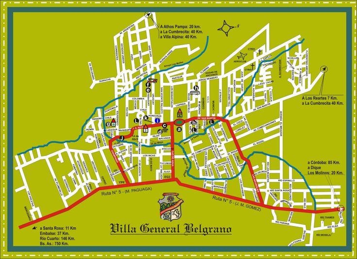 Plano de Callles de Villa General Belgrano