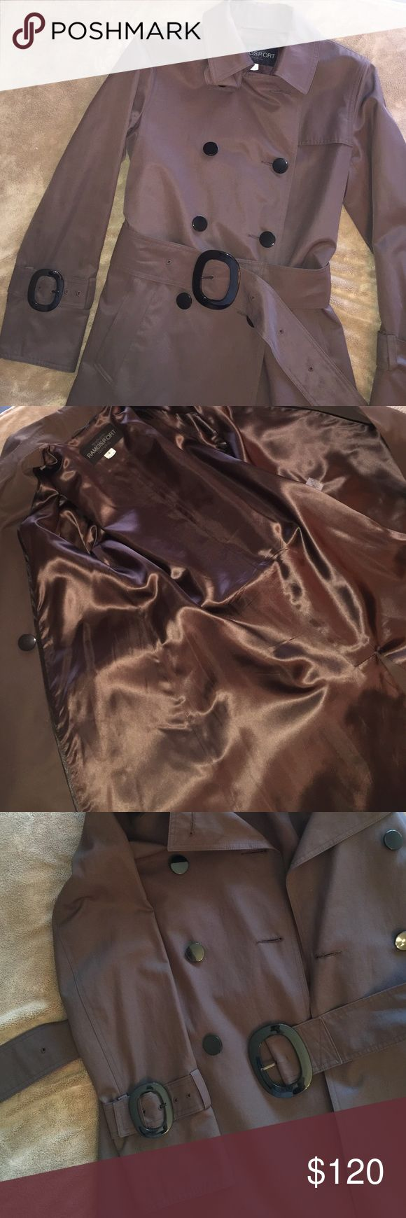 Brand new, Ramos Sport, Chocolate Brown trench. Stunning chocolate brown trench coat with black gloss buttons/belt buckle. Two pockets. Brand New, never been worn. Bought from Nordstroms in Chicago a couple of years ago. Perfect for Fall! Ramos Sport  Jackets & Coats Trench Coats