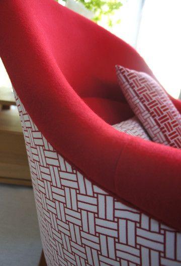 fauteuil crapaud tissu imprimé lavable et reversible reverso lelièvre vendu par la rime des matieres