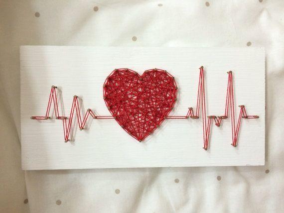 Cadena arte ritmo corazón Beat muestra pared decoración arte