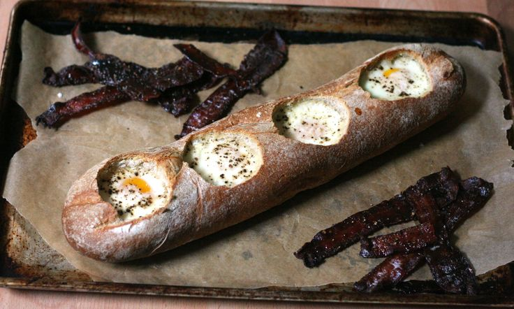 Eggs in a bakset recipe.