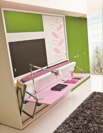 Escrivaninha dá lugar a cama de solteiro em móvel multifuncional