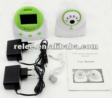 HOT! 2.4 LCD infrared Wireless Digital 2.4G nanny Monitor kit