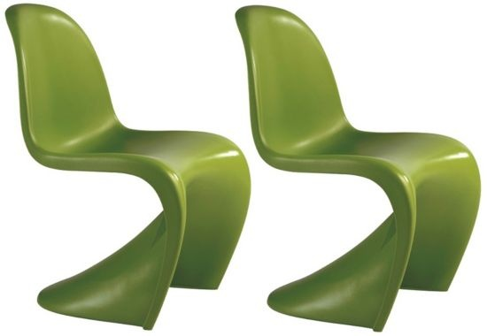 Set of 2 Zuo Baby S Green Kids Chairs