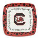 South Carolina Gamecock Square Plate