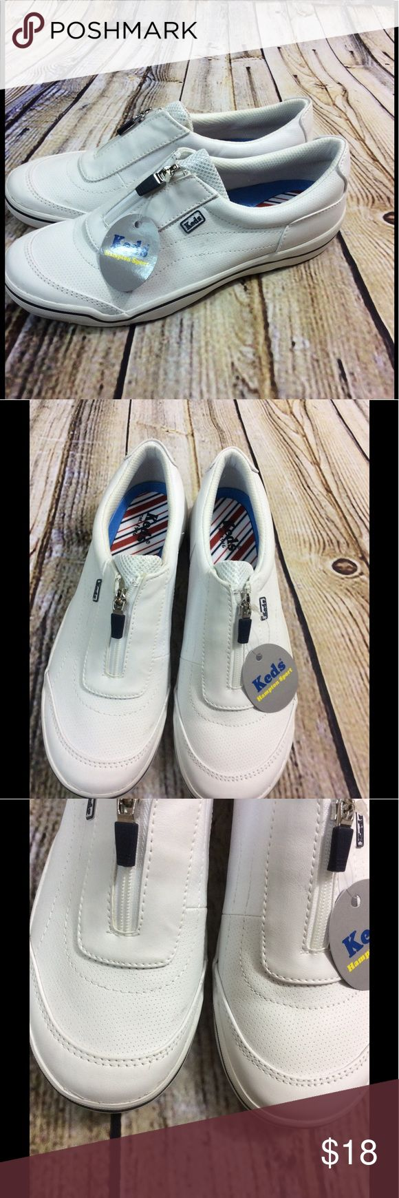 Women's Zip Up Keds 7.5 NWT Women's keds new with tags size 7.5. A few scuffs from storage one by toe, one by keds sign and some silver marker from pricing on sole. So new but a few imperfections. Keds Shoes Flats & Loafers