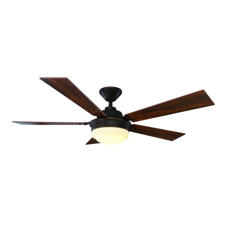 Home Decorators Collection Emswell 52 in. Mediterranean Bronze Indoor LED Ceiling Fan
