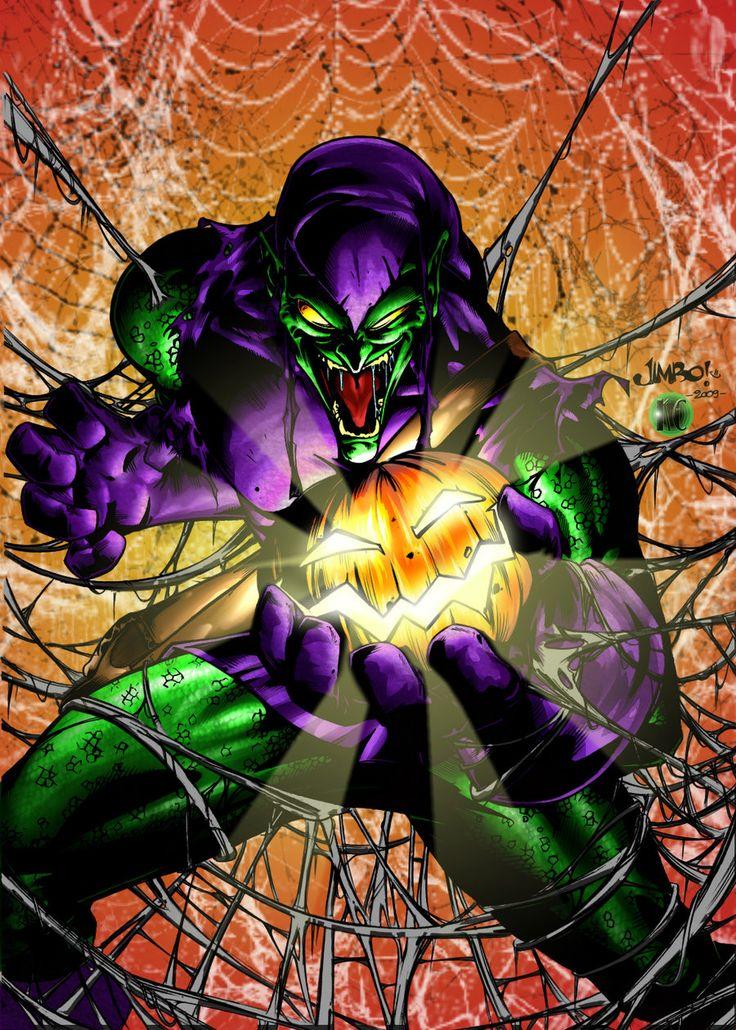 Картинки зеленого гоблина из человека паука