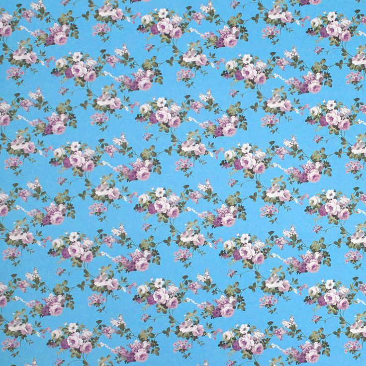 Papel scrapbook flores azul turquesa 5320 iara capraro for Papel pared turquesa