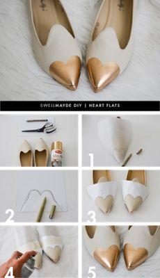 Inspiração de DIY: sapato com bico de coração! ♥