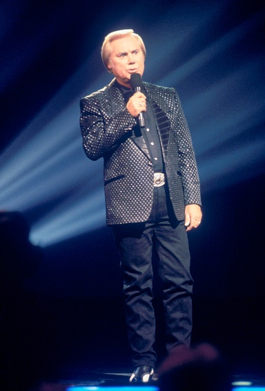 """Country great George Jones turns in a heartwarming performance at """"The 28th Annual CMA Awards"""" (10/5/1994)."""