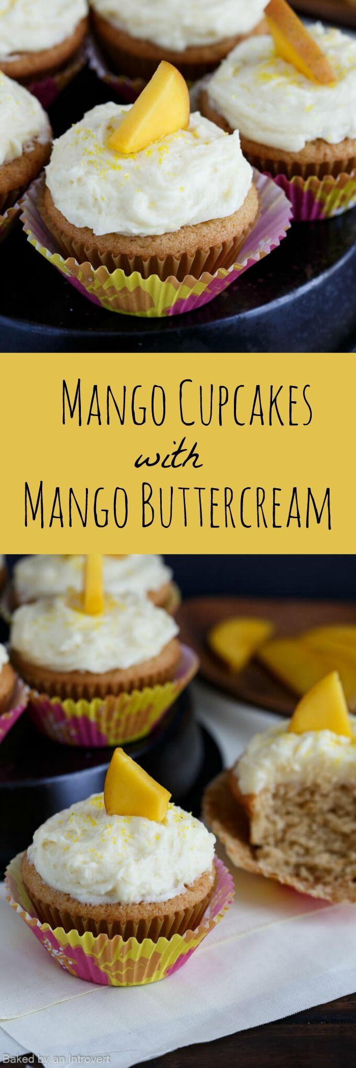 Mango Cupcakes with Mango Buttercream Frosting!