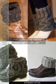 DiaryofaCreativeFanatic: Needlecrafts - Knit, Boot Cuffs