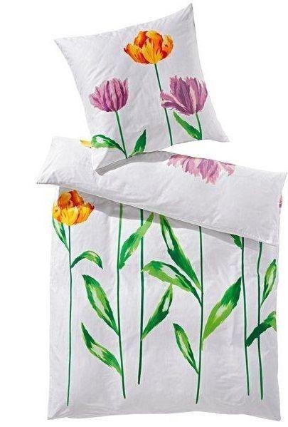 Heine Home-Bettwäsche Baumwolle 2tlg135x200-80x80 Motiv Blume Tulpe in Möbel & Wohnen, Bettwaren, -wäsche & Matratzen, Bettwäsche | eBay!