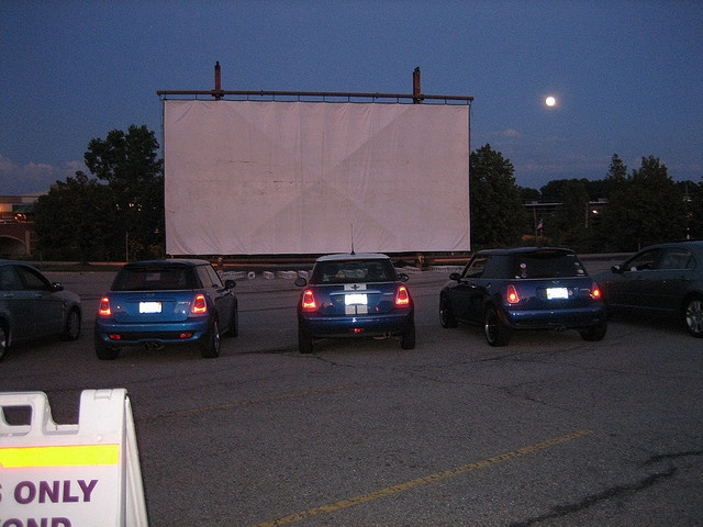 Compuware DriveIn, Plymouth, Michigan. 3 screens setup in