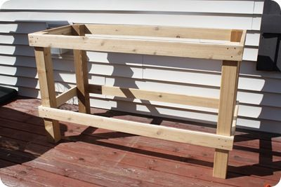 Make Your Own Potting Bench Angle It Put A Hinged Lid On