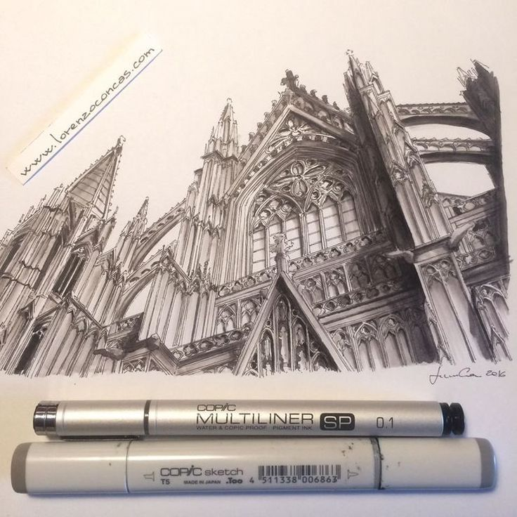 Extremely Detailed Architectural Illustrations by Lorenzo Concas