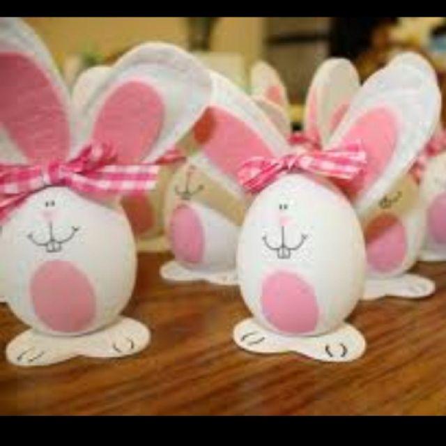 Easter egg bunny craft idea