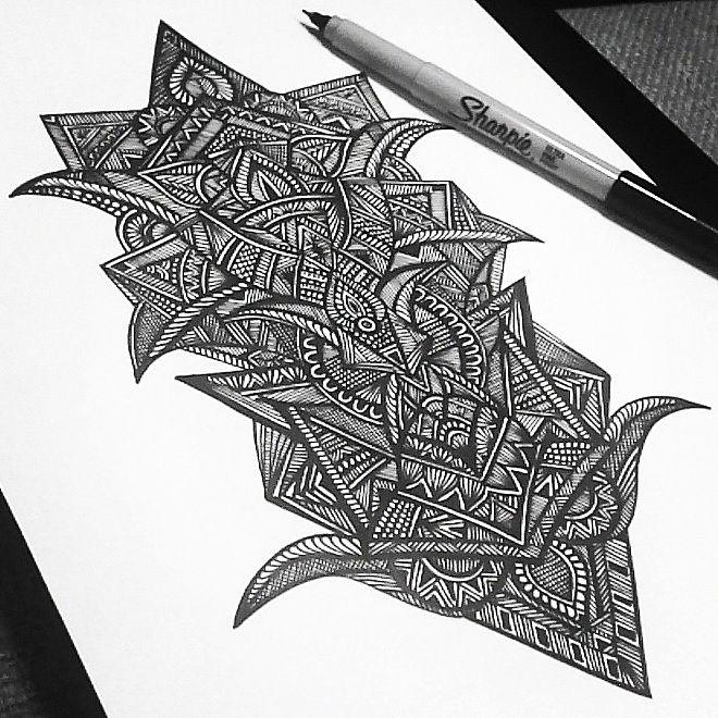 tribal doodle