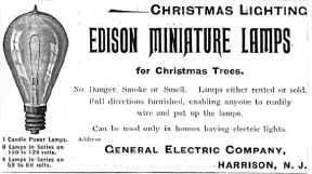 Edison miniature lights for Christmas Trees
