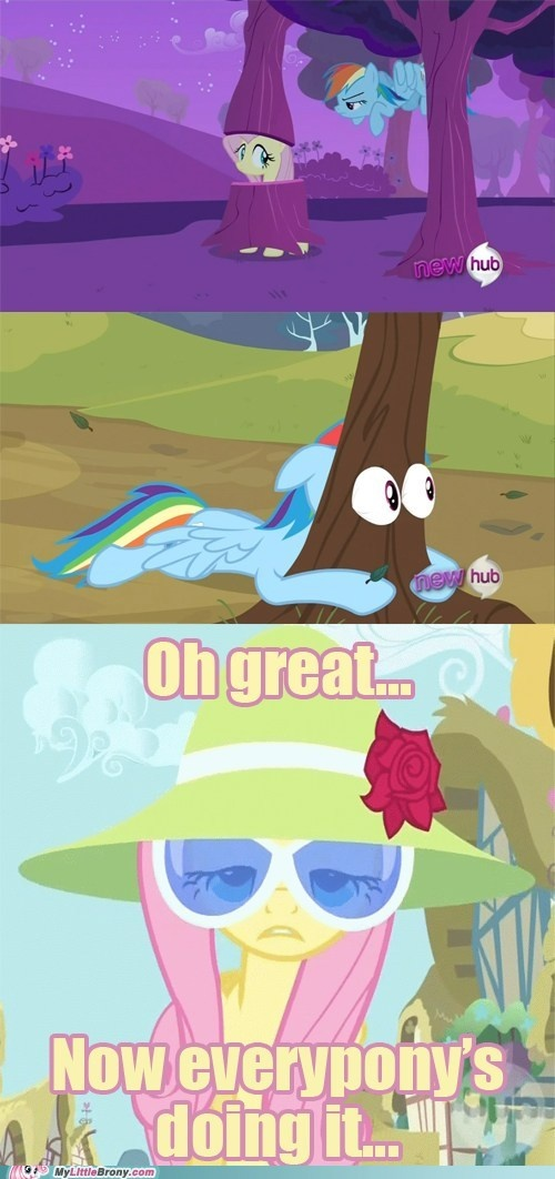 Fluttershy was a tree before it was cool HIPSTA FLUTTERSHY!