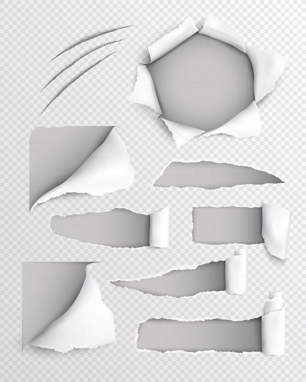Torn Paper Realistic Transparent Set Fre Free Vector Freepik Freevector Paper Letter Notebook Element Torn Paper Paper Drawing Art Logo