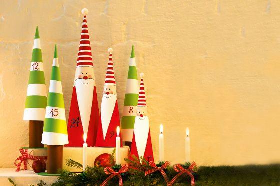 Niedliche Adventskalender-Wichtel: Wir zeigen euch Schritt für Schritt, wie ihr den Adventskalender bastelt. #christmas #DIY