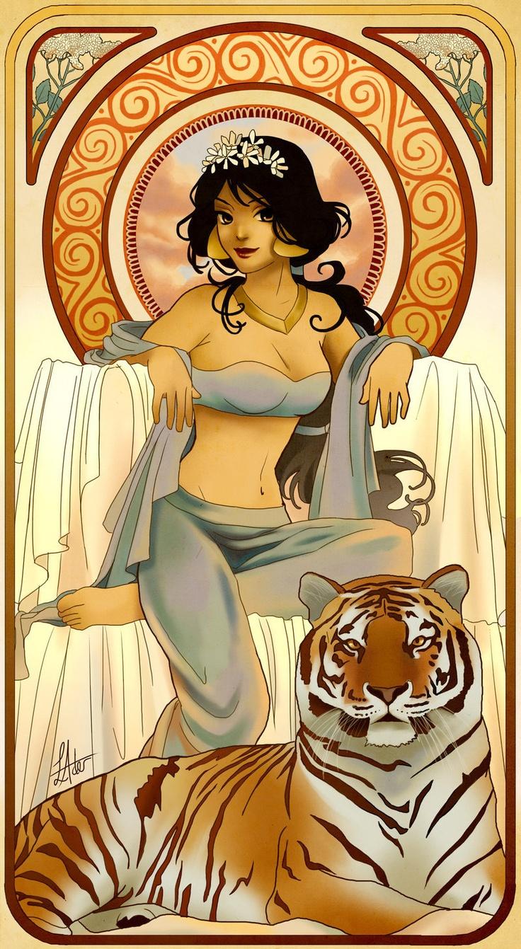 Jasmine-Mucha style
