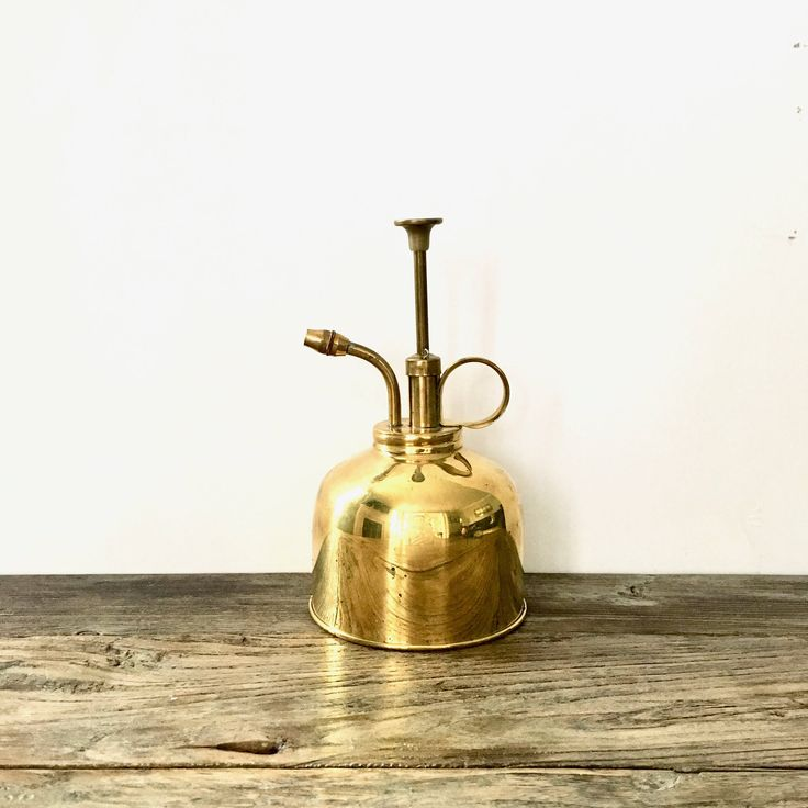 Vintage Brass Atomizer water mister / Brass Water Mister by EllasAtticVintage on Etsy