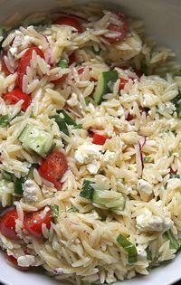 Griechischer Nudelsalat ,Greek Pasta Salad ,orzo pasta