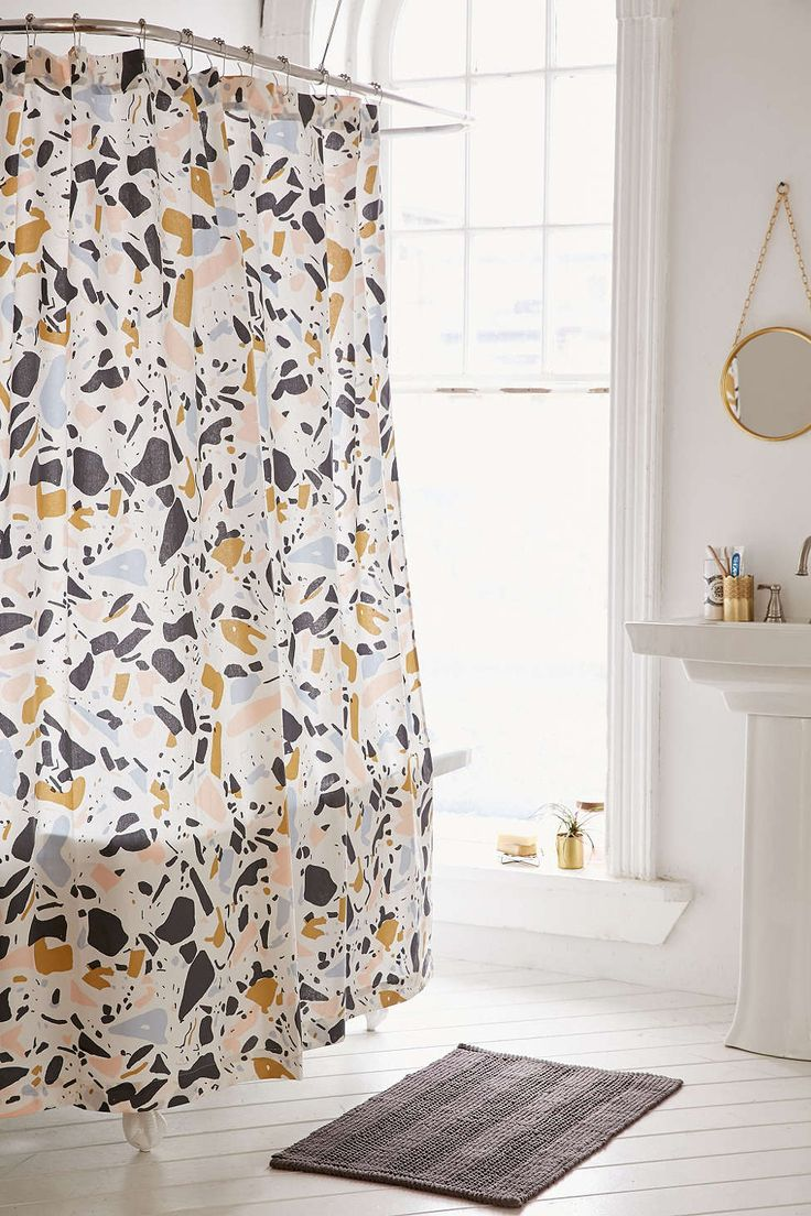 Mustache shower curtain - Rideau De Douche Terrazzo Killian