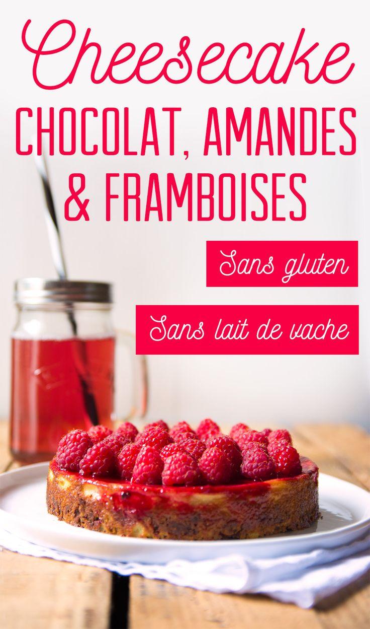 Ma recette de cheesecake sans gluten et sans lait de vache avec un biscuit au chocolat, une crème à l'amande et des framboises - 22 v'la Scarlett