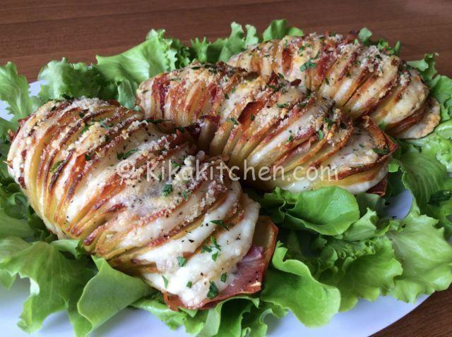 Patate hasselback (patate farcite al forno)
