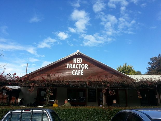 Once you're out of Cape Town and on Sir Lowry's pass, stop off for a delicious breakfast at the Red Tractor Cafe at the Peregrine Farm Stall on the Houw Hoek Pass. their Farmer's Delight croissant with scrambled eggs or French Toast paired with a delicious cappuccino comes highly recommended. #travel #roadtrip #grabouw Read more --> http://www.news24.com/Travel/Guides/Weekend-Escapes/5-Cape-Country-Meander-gems-20130604