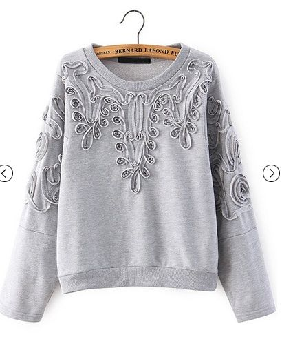 Do you like?  http://www.sheinside.com/Grey-Long-Sleeve-Disk-Flowers-Sweatshirt-p-202090-cat-1773.html