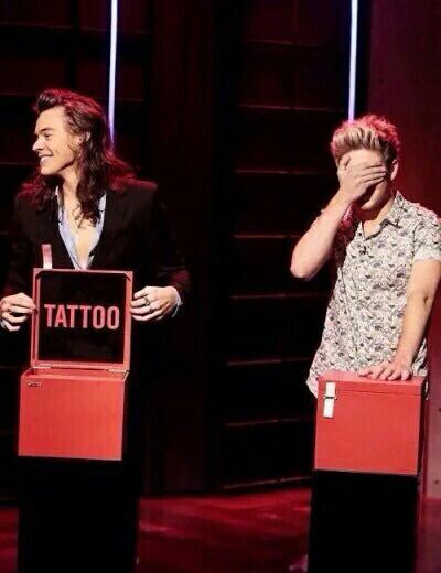 Harry and Niall ~ tattoo roulette