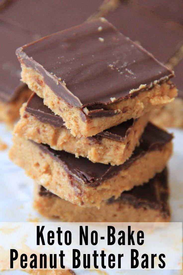 Erdnussbutter trifft cremige Schokolade in dieser No Bake Keto Erdnussbutter