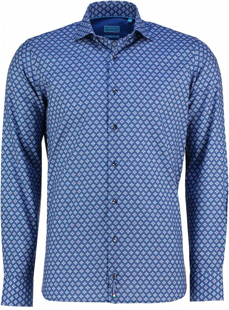 Nieuw: #overhemden van British Indigo. Zoals deze Tutti Colore Quadrifoglio: https://www.shirtsupplier.nl/nl/overhemden/british-indigo-italiaans-overhemd-tutti-colore-klavertje-4-print-overhemd-752048205-kleur-60 #britishindigo