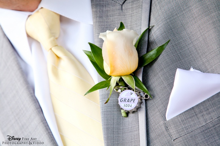 Grape soda pin boutonniere from Disney's UP