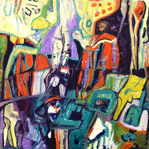 Jennifer Sulaj  Living to the Fullest 75cmx90cm $1125.00 Available at Winter Art Soiree Event