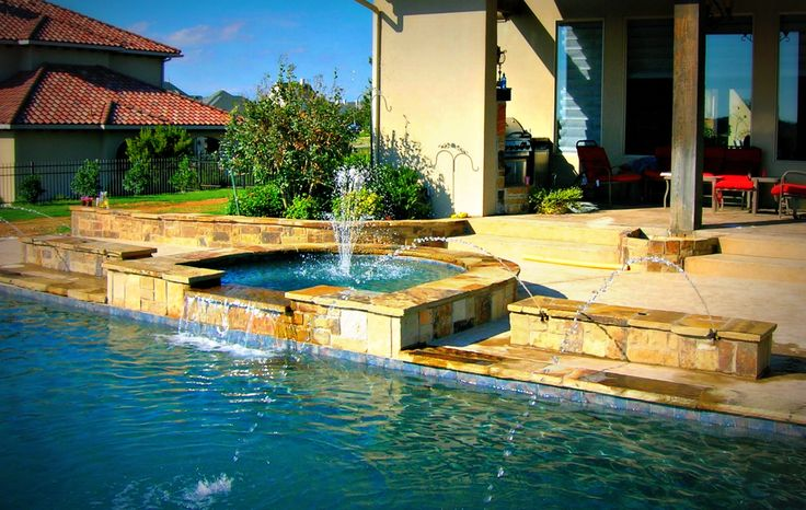 7 best images about water feature samples by dallas fort worth pool builder puryear custom pools for Fort worth swimming pool builders