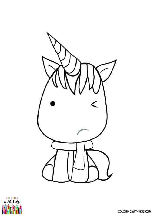 Free Printable Kawaii Unicorn Coloring Page In 2020 Unicorn Coloring Pages Cute Coloring Pages Kawaii Unicorn