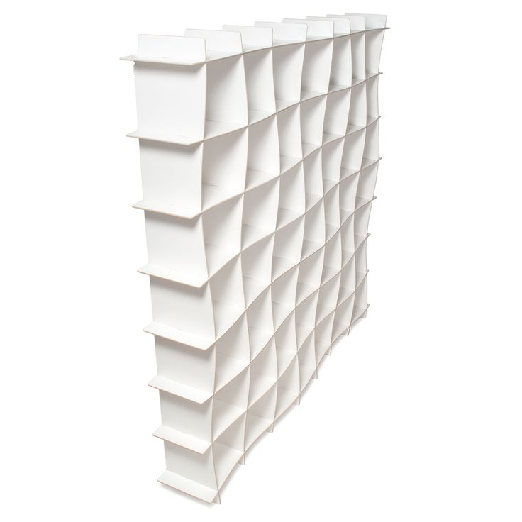 Get all the storage space you need, in a modern and minimalistic way with Sprout's 49 white cubby bookcase