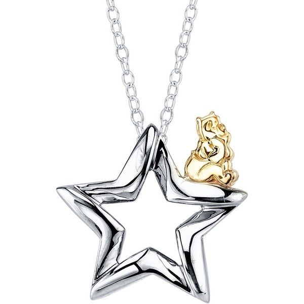 18 Disney 10K Yellow Gold & Sterling Silver Winnie The Pooh Star... ($80) ❤ liked on Polyvore featuring jewelry, necklaces, gold necklace, yellow gold pendant necklace, gold star pendant, star pendant and disney necklace