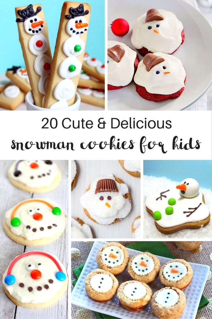 165 best cute christmas food ideas for kids images on pinterest 20 amazing snowman cookies your kids will love delicious dessert for a fun winter theme forumfinder Gallery