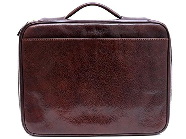 Leather folder document file folder A4 leather zipped folder bag red brown black made in Italy executive business folder - Brought to you by Avarsha.com